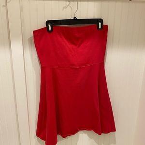 Hot pink strapless dress